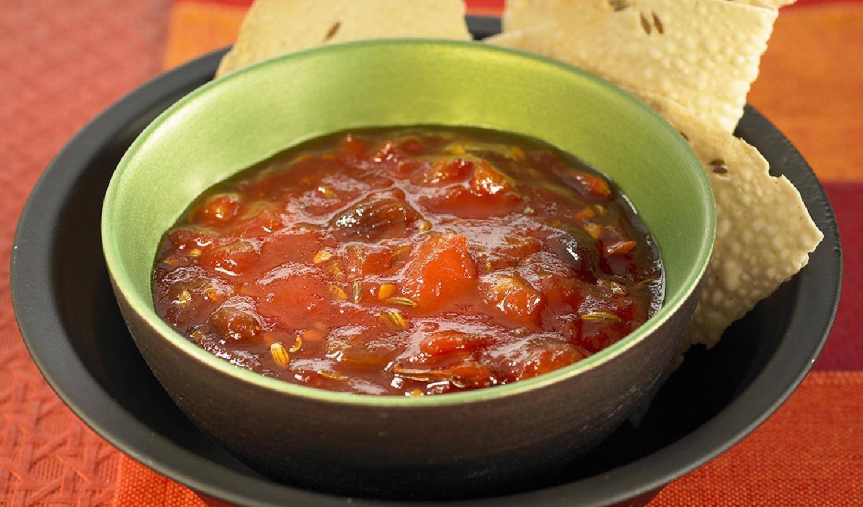 Chutney de Raisin et Datte avec Jus de Pomme Grenade – recette