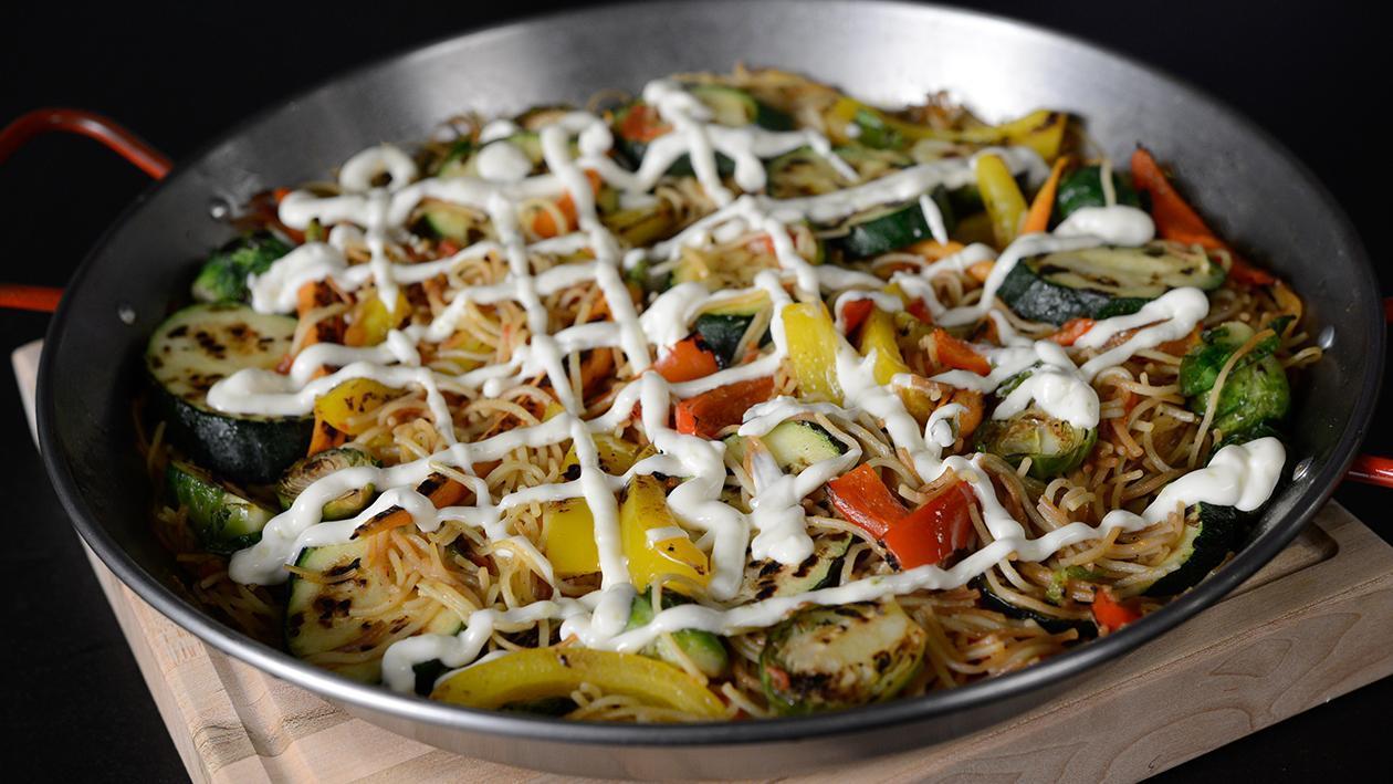 Fideua aux légumes grillés – recette