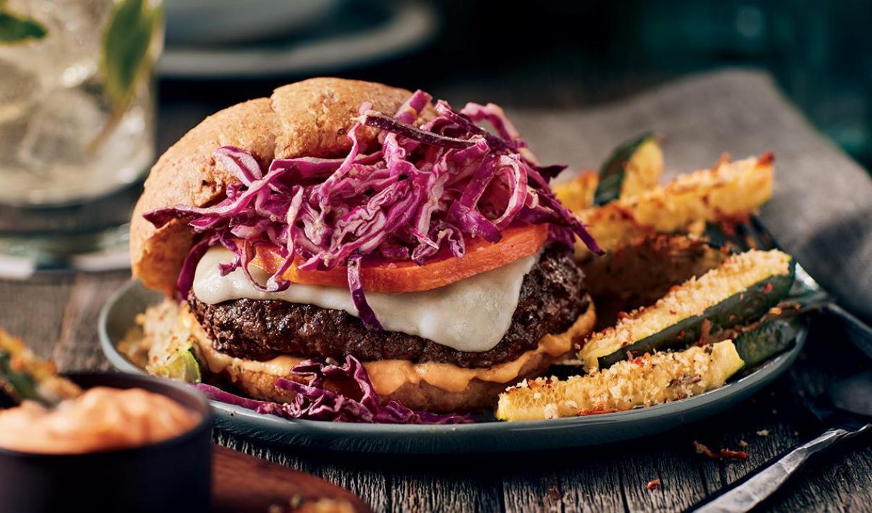 Hamburger à la courge Butternut et au bison – recette