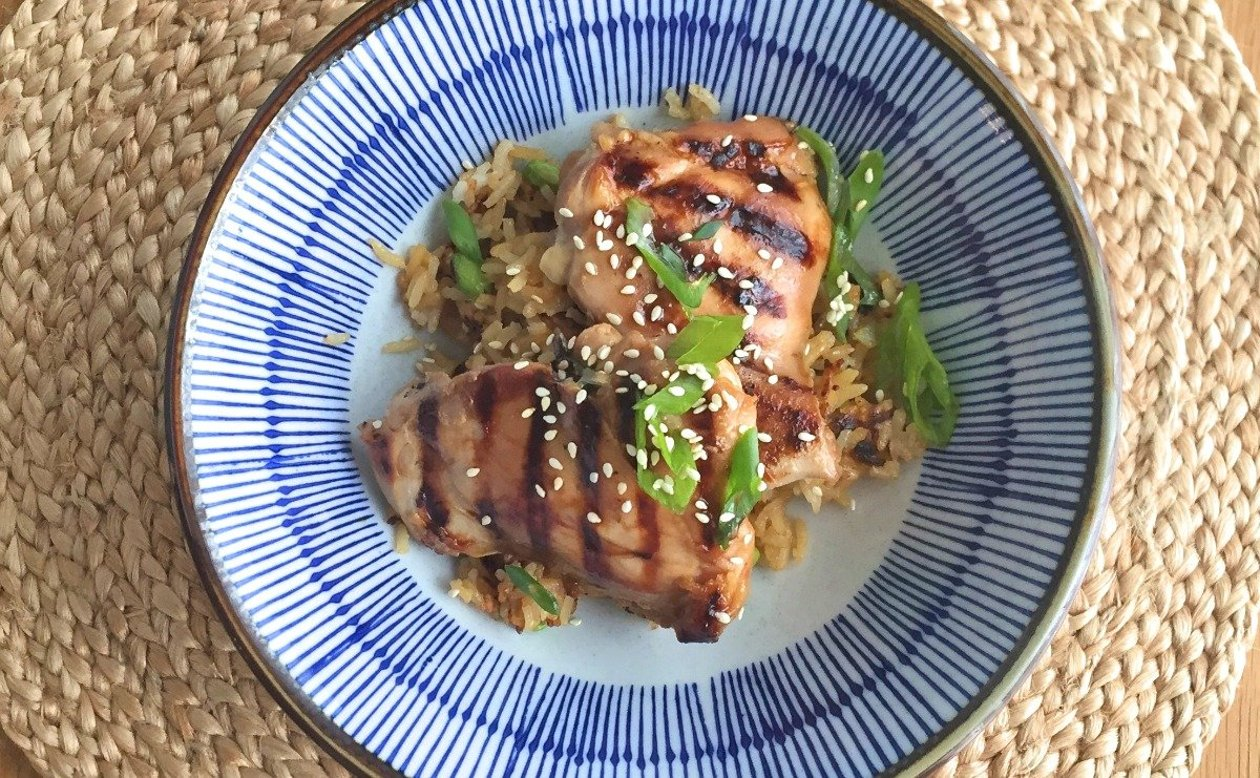 Japanese Rice with Chicken Yakitori – recette