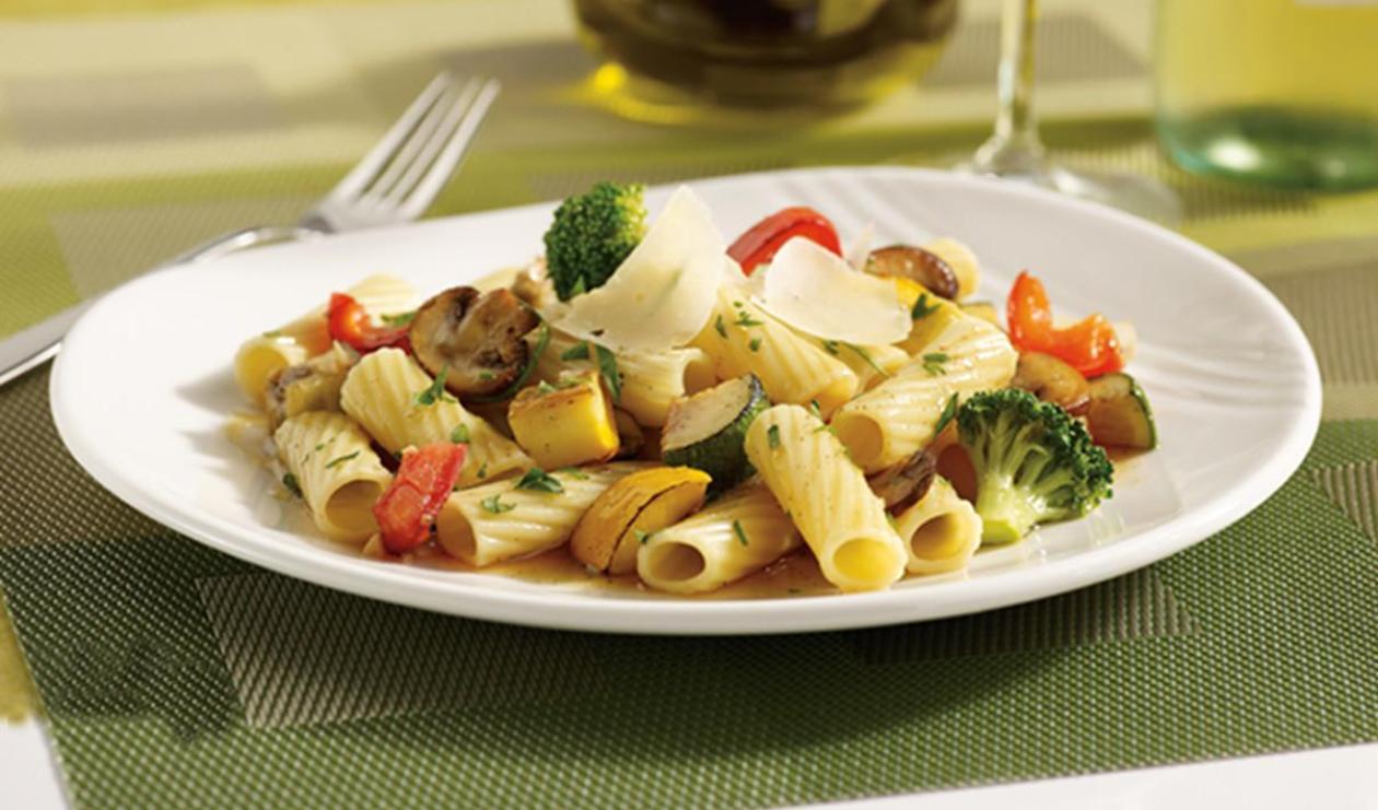 Rigatoni aux légumes – recette