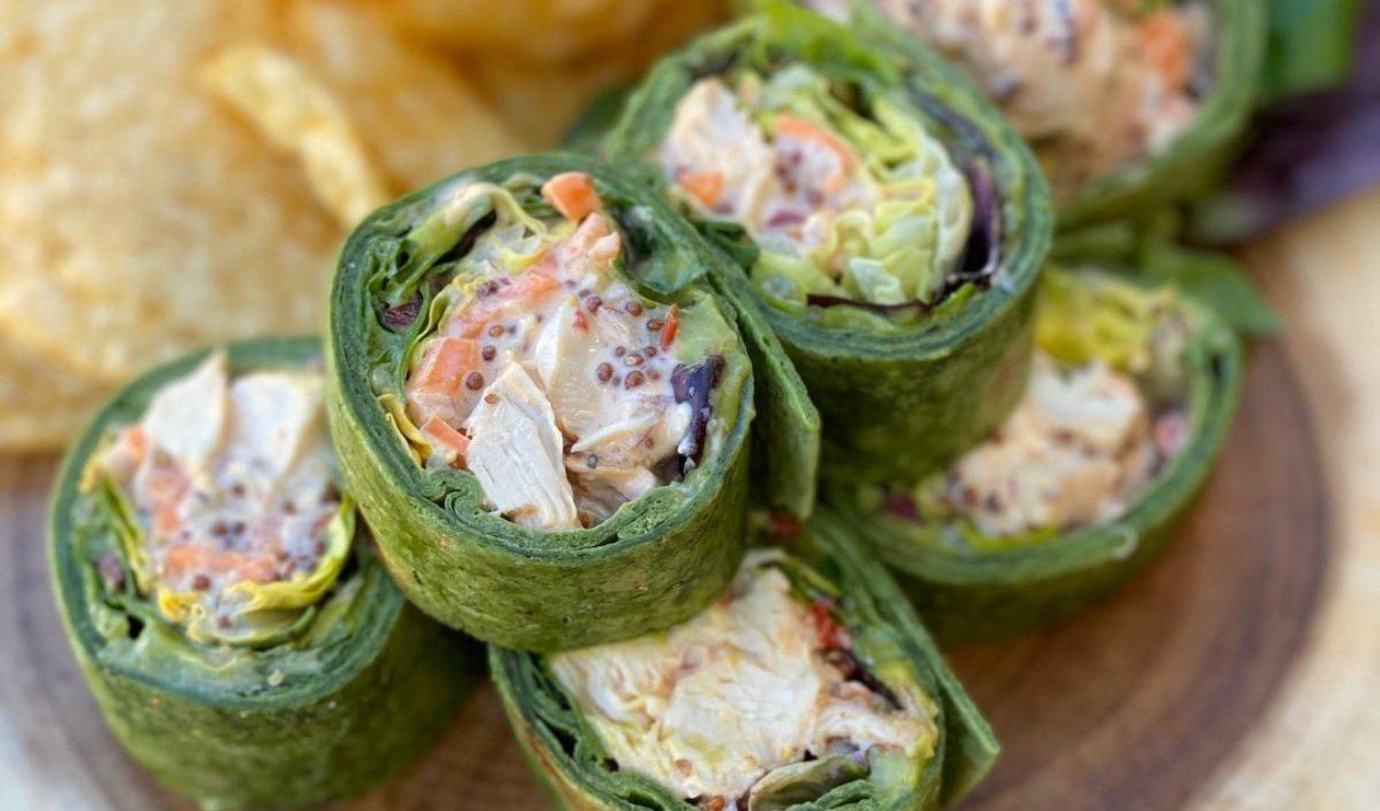 Roulés à la Salade de Poulet et à l'Avocat – recette