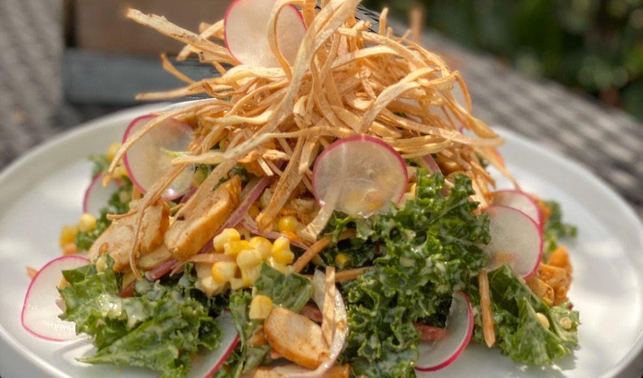 Salade Croquante au Chou Frisé et au Poulet – recette