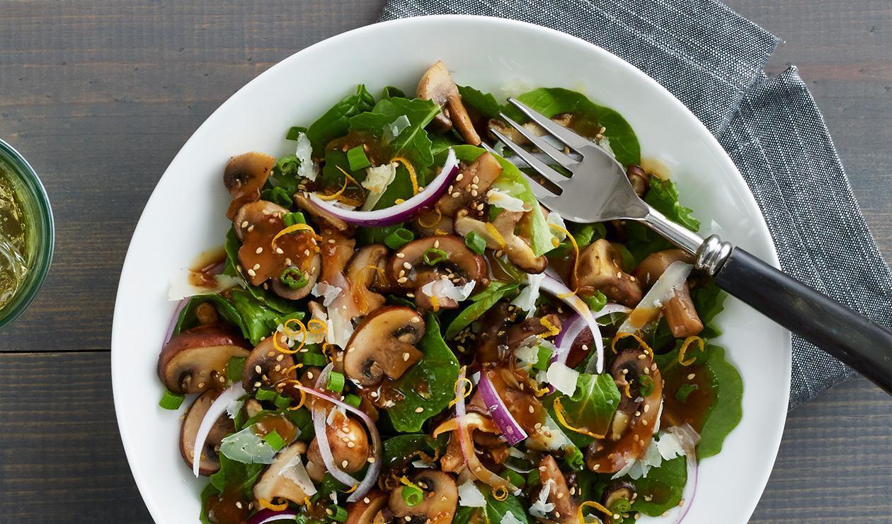 Salade de Champignons Sésame-Soja – recette