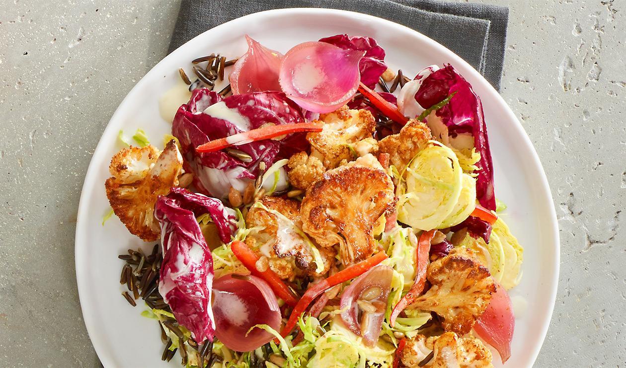 Salade de chou-fleur grillé aux épices – recette