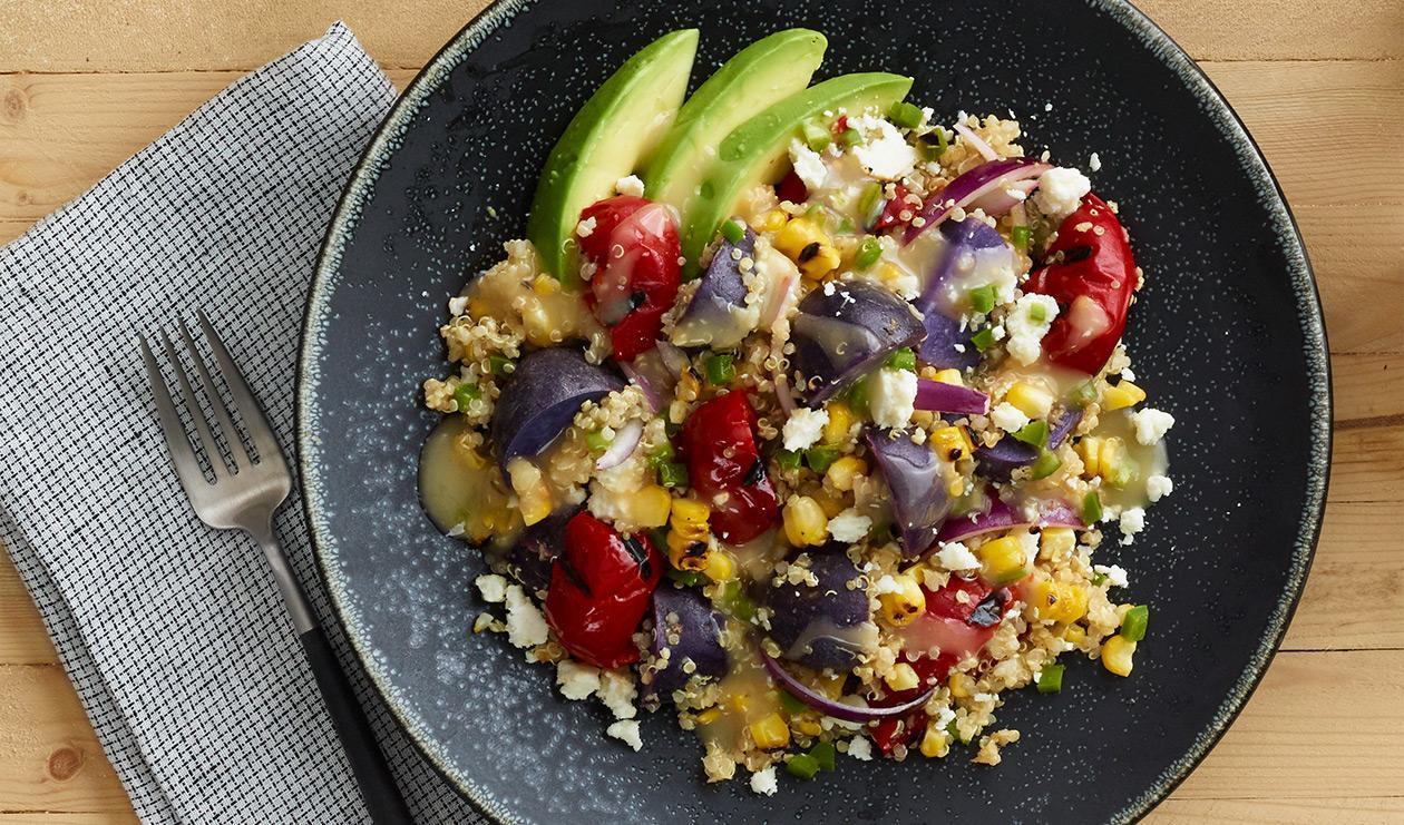 Salade de grains péruvienne épicée – recette