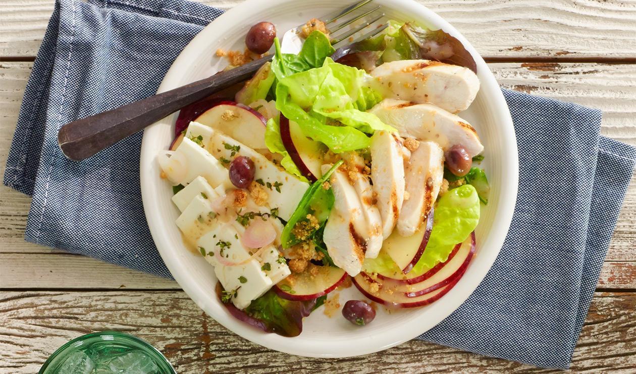 Salade de pommes et feta marinés – recette