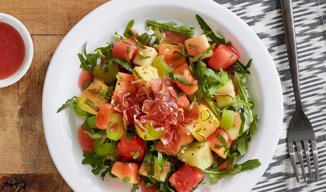 Salade de prosciutto et mélange de melons – recette