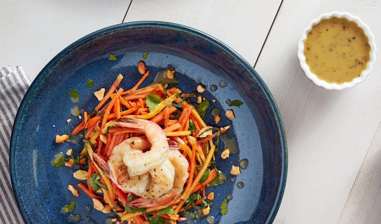 Salade épicée à la Papaye et aux Crevettes – recette