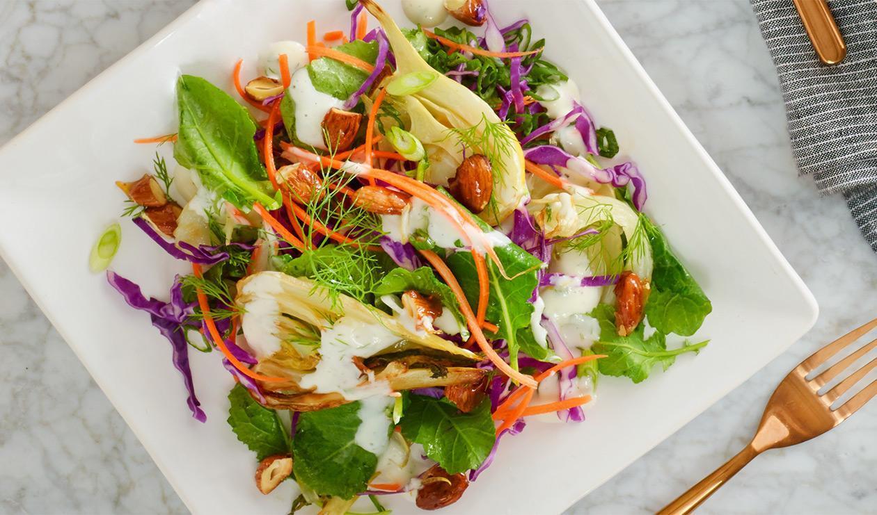 Salade épicée au fenouil et kale – recette