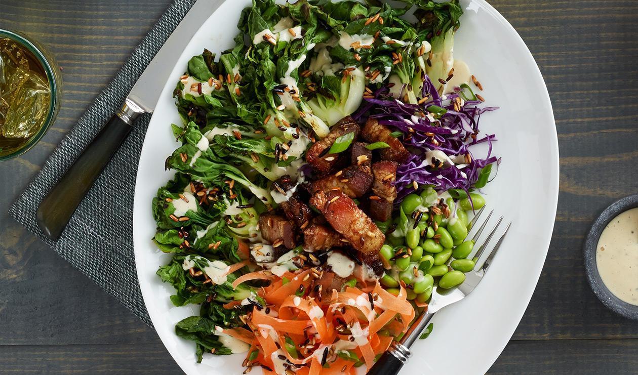 Salade grillée de bok choy – recette