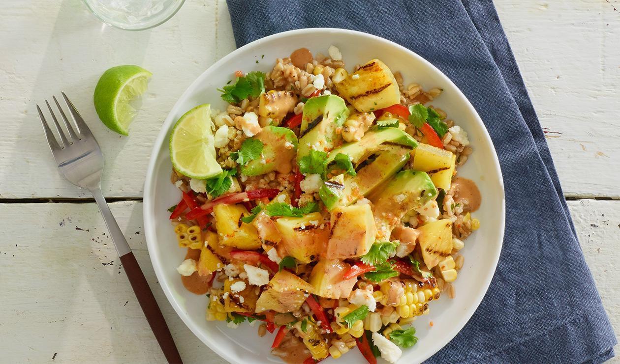 Salade Habanero de Grains et d'Ananas Grillés – recette