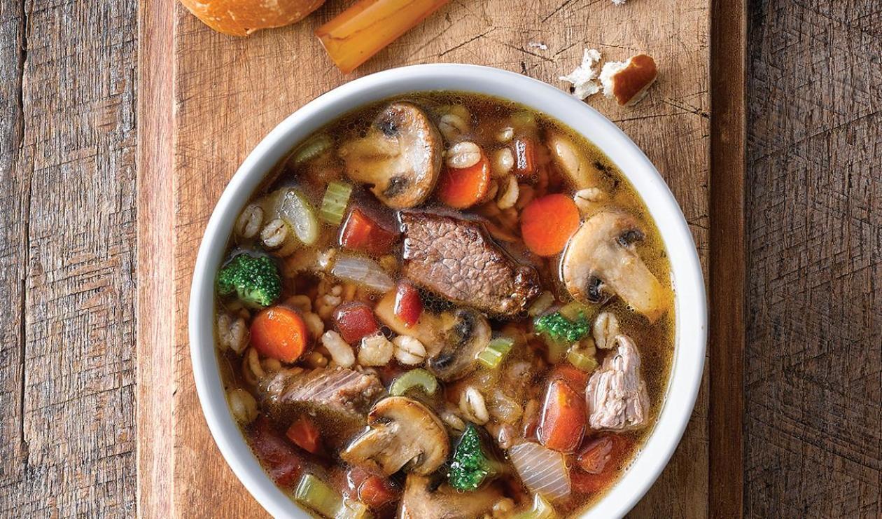 Soupe au bœuf et à l'orge – recette