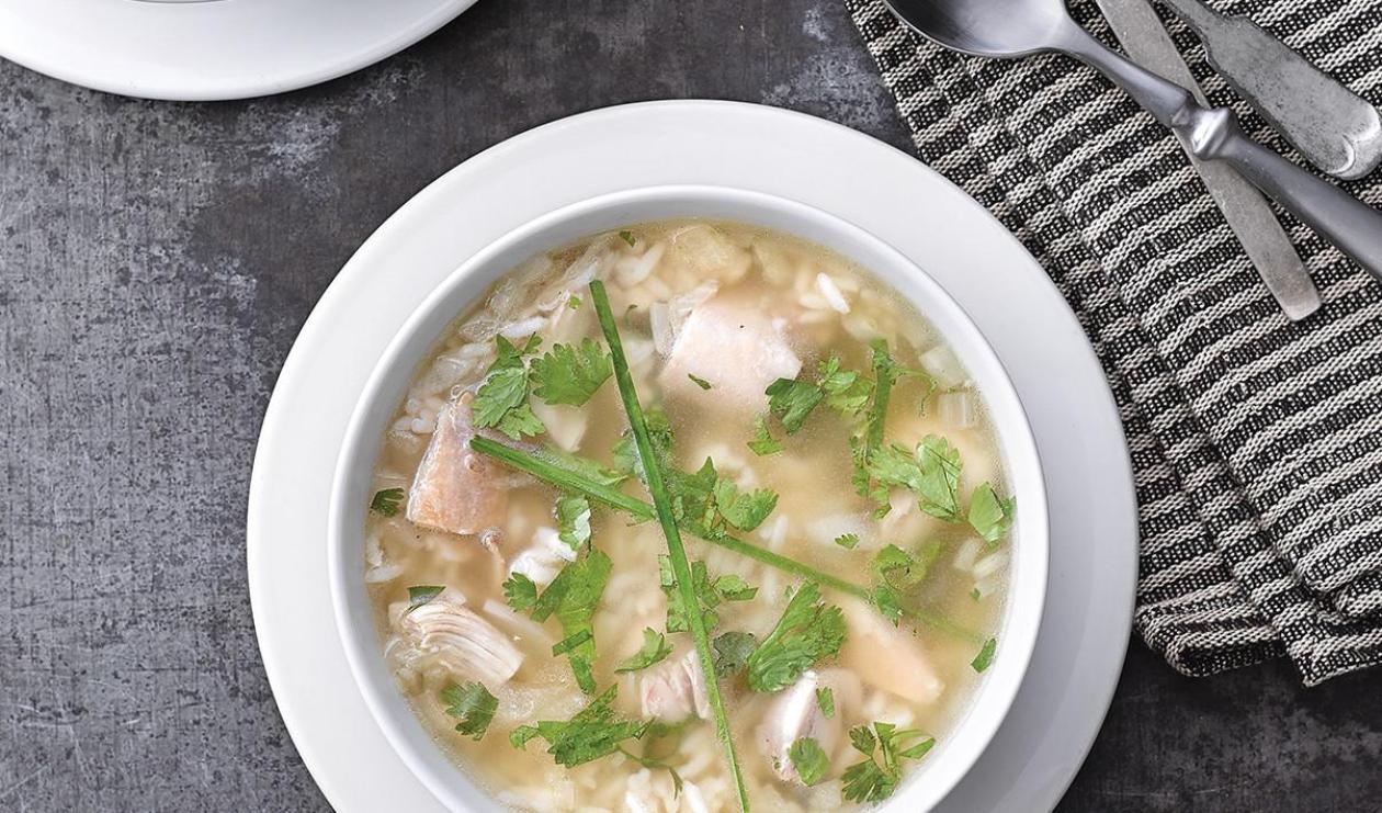 Soupe au Poulet et au Riz Gingembre-Lime – recette