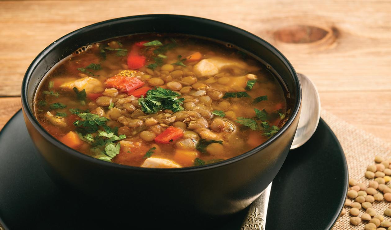 Soupe de Porc, Lentilles et Chou Frisé – recette