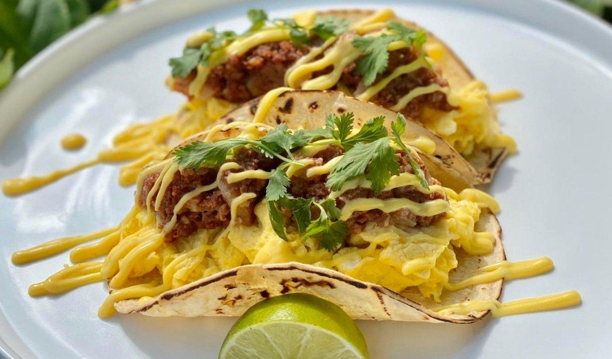 Tacos Déjeuner au Bœuf Salé – recette