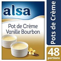 Alsa Pot de Crème Vanille Bourbon 520 g 48 portions