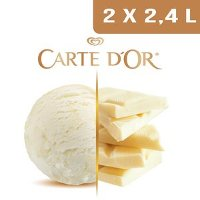 Carte d'Or Crème glacée Chocolat blanc - 2,4 L