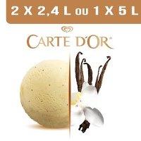 Carte d'Or Crème glacée Vanille Bourbon de Madagascar - 2,4 L