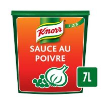 Knorr 123 Sauce au Poivre déshydratée 840g jusqu'à 7L