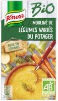 Knorr Bio Soupe liquide -  Mouliné de légumes variés du potager liquide 1l