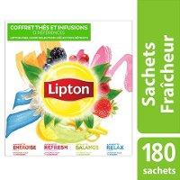 Lipton Coffret Thés et Infusions 180 sachets fraîcheur