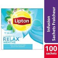 Lipton Feel Good Selection Infusion Menthe Poivrée 100 Sachets Fraîcheur