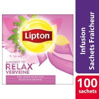 Lipton Feel Good Selection Infusion Verveine 100 sachets fraîcheur