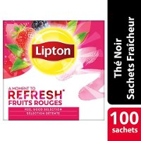 Lipton Feel Good Selection Thé Fruits Rouges 100 Sachets Fraîcheur