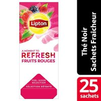 Lipton Feel Good Selection Thé noir Fruits rouges 25 sachets fraîcheur