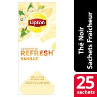 Lipton Feel Good Selection Thé Vanille 25 Sachets Fraîcheur