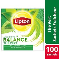 Lipton Feel Good Selection Thé Vert 100 Sachets Fraîcheur