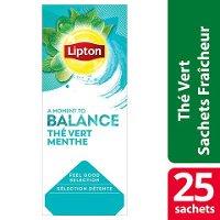 Lipton  Feel Good Selection Thé vert Menthe 25 sachets fraîcheur