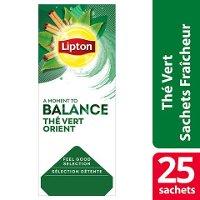 Lipton Feel Good Selection Thé vert orient 25 sachets fraîcheur