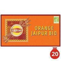Lipton Thé Noir Bio Orange Jaipur 20 Sachets Mousseline