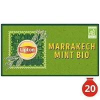 Lipton Thé Vert Marrakech Mint 20 Sachets Mousseline Bio