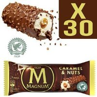 Magnum Barre Caramel & Nuts x 30