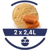 Mon Petit Glacier Bac Caramel et Sel de Camargues - 2 x 2,4 L