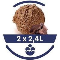 Mon Petit Glacier Bac Chocolat de Belgique - 2 x 2,4 L