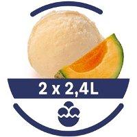 Mon Petit Glacier Bac Melon de Cavaillon - 2 x 2,4 L