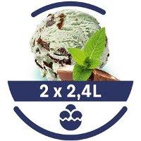 Mon Petit Glacier Bac Menthe-Chcolat - 2 x 2,4 L