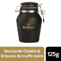 NOUVEAU - Maille Moutarde au Chablis & Brisures de truffe noire - Pot Grès - 6 x 125g