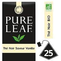 Pure Leaf BIO Thé Noir saveur Vanille 25 sachets pyramides