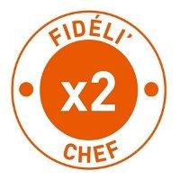vos points Fidéli'Chef doublés pour la semaine Orange !