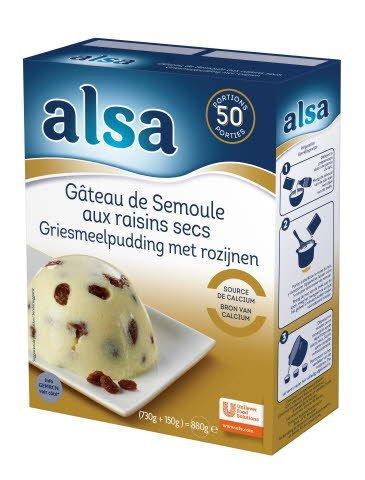 Alsa Gâteau de Semoule aux raisins 730g 50 portions