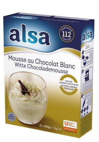 Alsa Mousse au Chocolat Blanc 1kg 112 portions