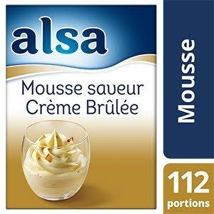 Alsa mousse saveur crème brûlée 1kg 112 portions
