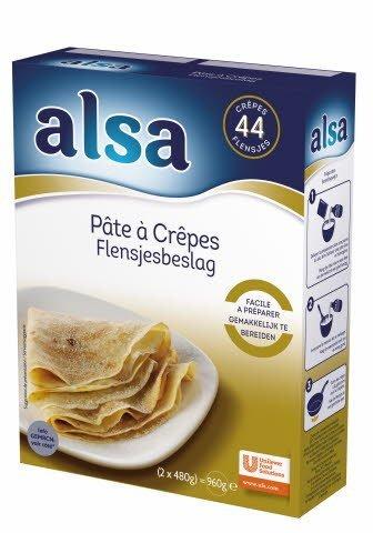 Alsa Pâte à Crêpes 960g 44 portions