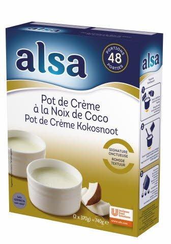 Alsa Pot de Crème à la Noix de Coco 740g 48 portions