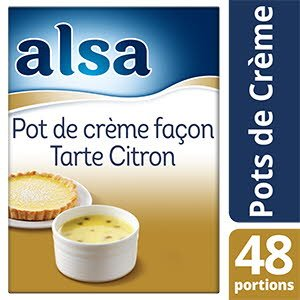 Alsa Pot de Crème façon Tarte Citron 800g 48 portions